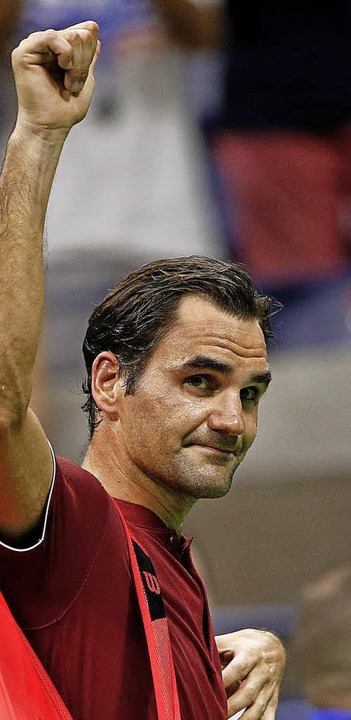 Bye bye New York: Roger Federer am Montagabend  | Foto: dpa