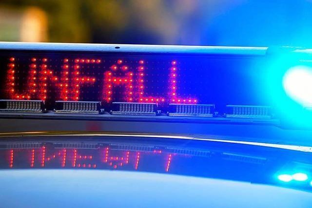 Zwei Verletzte bei Auffahrunfall auf der B 34
