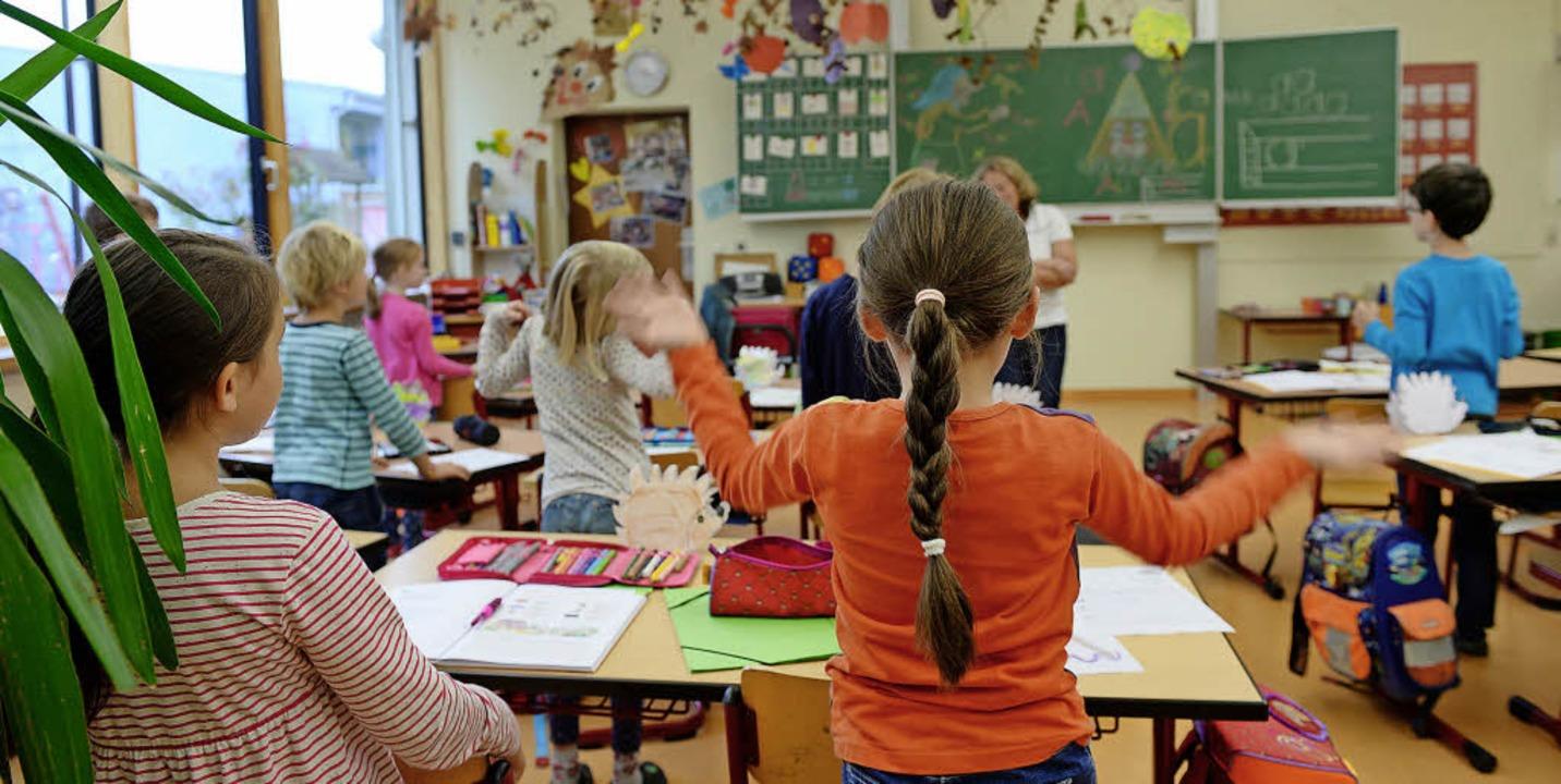Der Unterricht kann losgehen. In Laufe...ie Schulen allesamt gut vorbereitet.    | Foto: Symbolfoto: Felix Kästle (dpa)