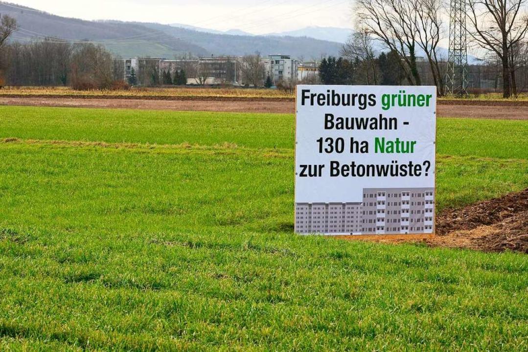 Gegen den geplanten Stadtteil Dietenba...große Mehrheit hinter dem Großprojekt.  | Foto: Ingo Schneider