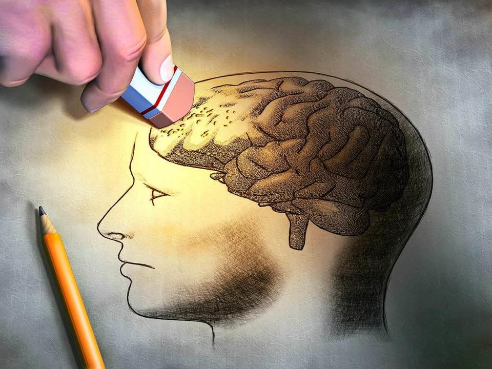 Bei der Frontotemporalen Demenz sterbe...llen im Stirn- und Schläfenbereich ab.  | Foto: Andrea Danti