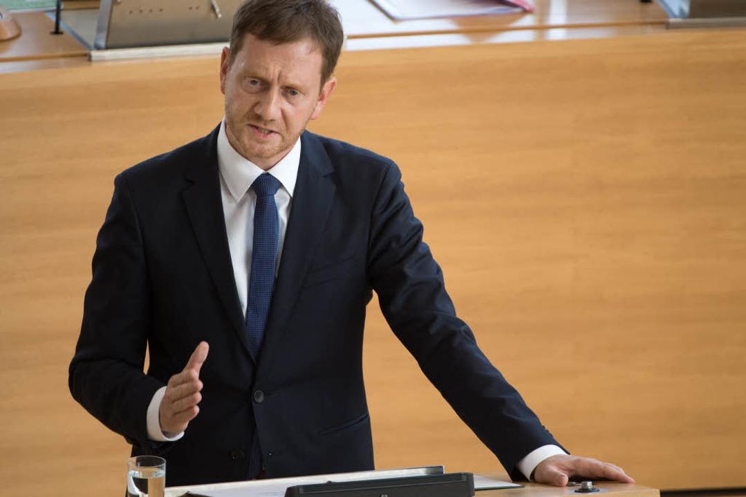 "Sachsens Ministerpräsident gab am Mitt...ne Hetzjagd und keine Pogrome.""   | Foto: dpa"