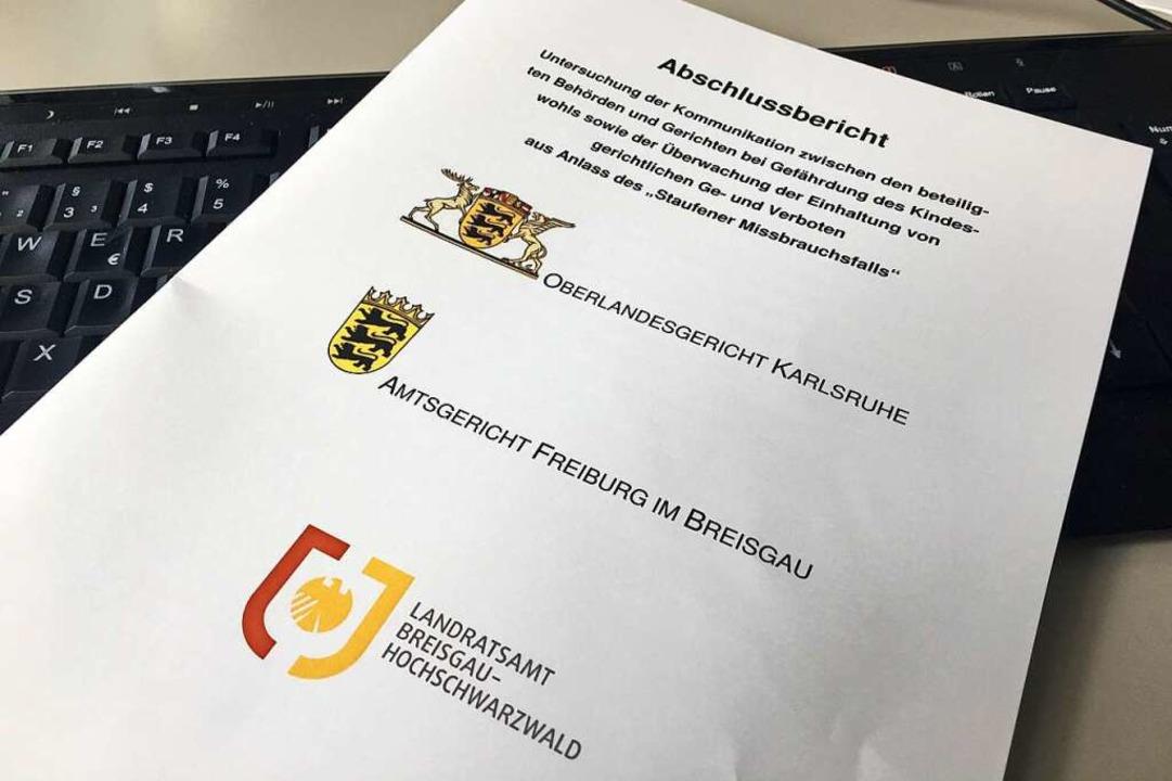 Der Abschlussbericht im  Staufener Missbrauchsfall liegt jetzt vor  | Foto: Konstantin Görlich