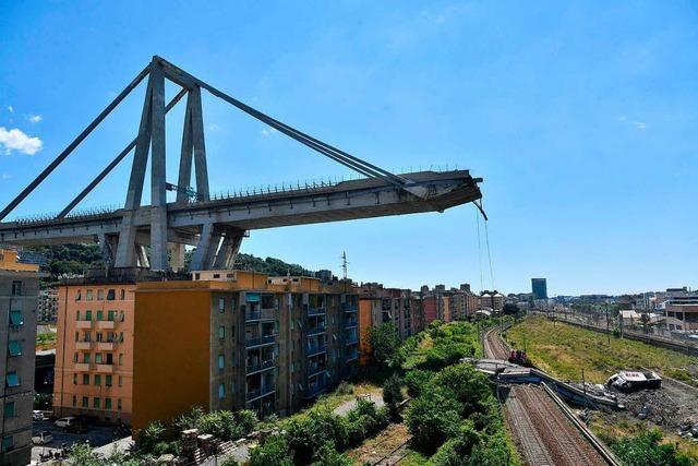 Brückeneinsturz in Genua bringt Anwohner in Rage