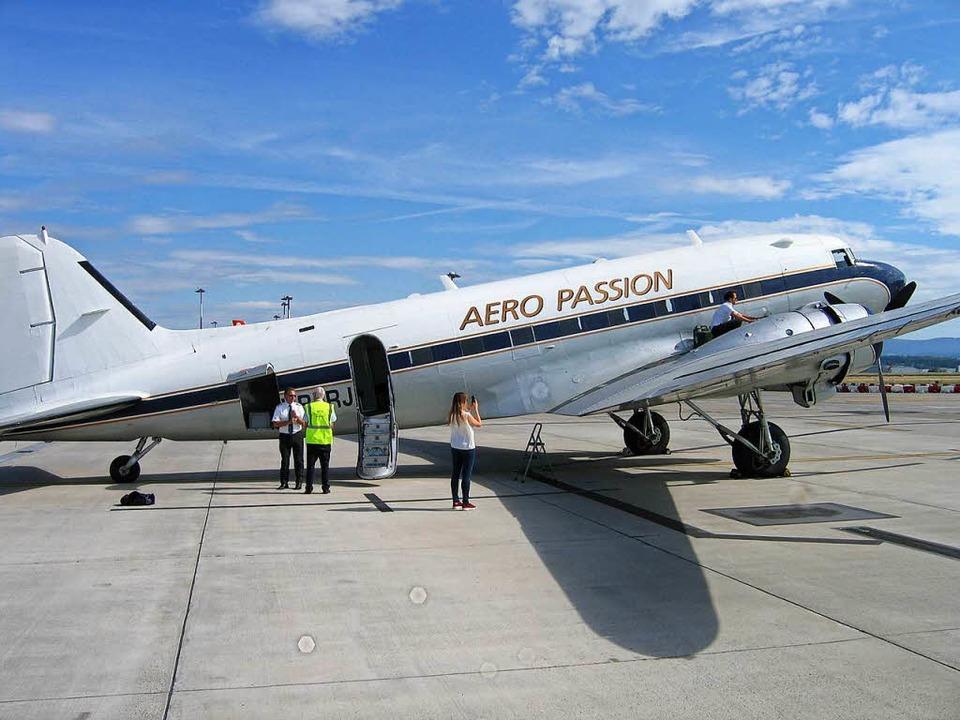 Die DC-3, ein beliebtes Fotomotiv  | Foto: Jürgen Schelling