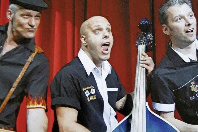 Das Trio Rockin' Carbonara spielt in Emmendingen