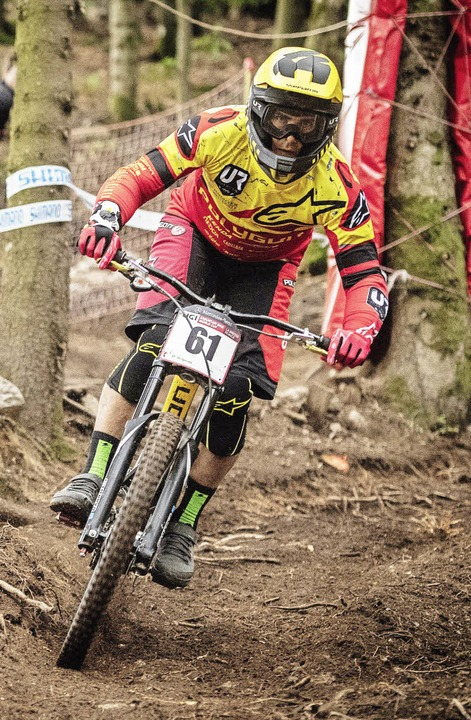 Konzentriert auf der Strecke: Mick &#8...-Weltcup  in La Bresse in den Vogesen   | Foto: Dave Trumpore