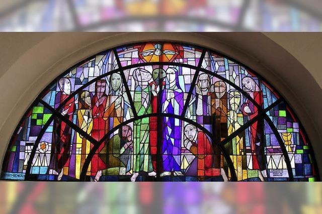 Jürgen Stude über die Glasfenster in der Friedenskirche Altenheim