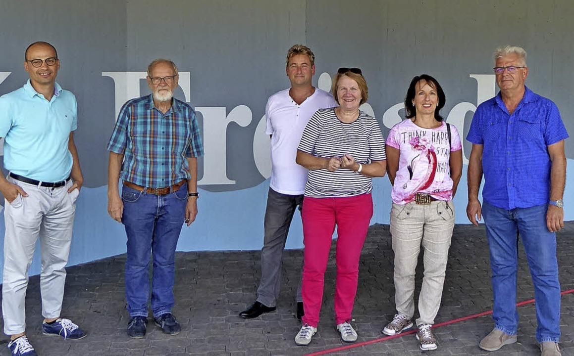 Besuch der Fraktion im Schwimmbad und ...ulsen-Zenke, Elke Streit und Uwe Wenk   | Foto: Pressefoto SPD