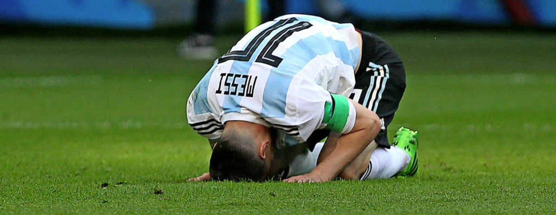 Enttäuscht bei der WM in Russland: Lionel Messi   | Foto: dpa