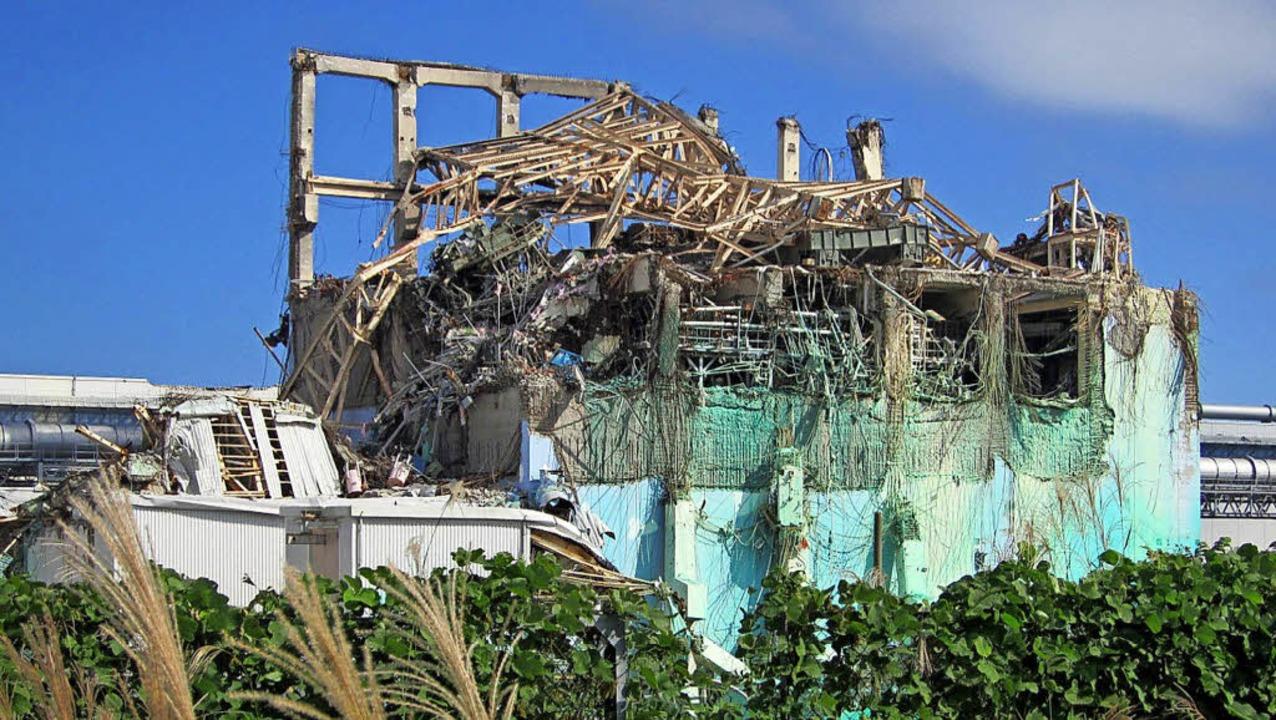 Die Überreste des AKW von Fukushima acht Monate nach dem Super-GAU im März 2011  | Foto: Tepco (afp)