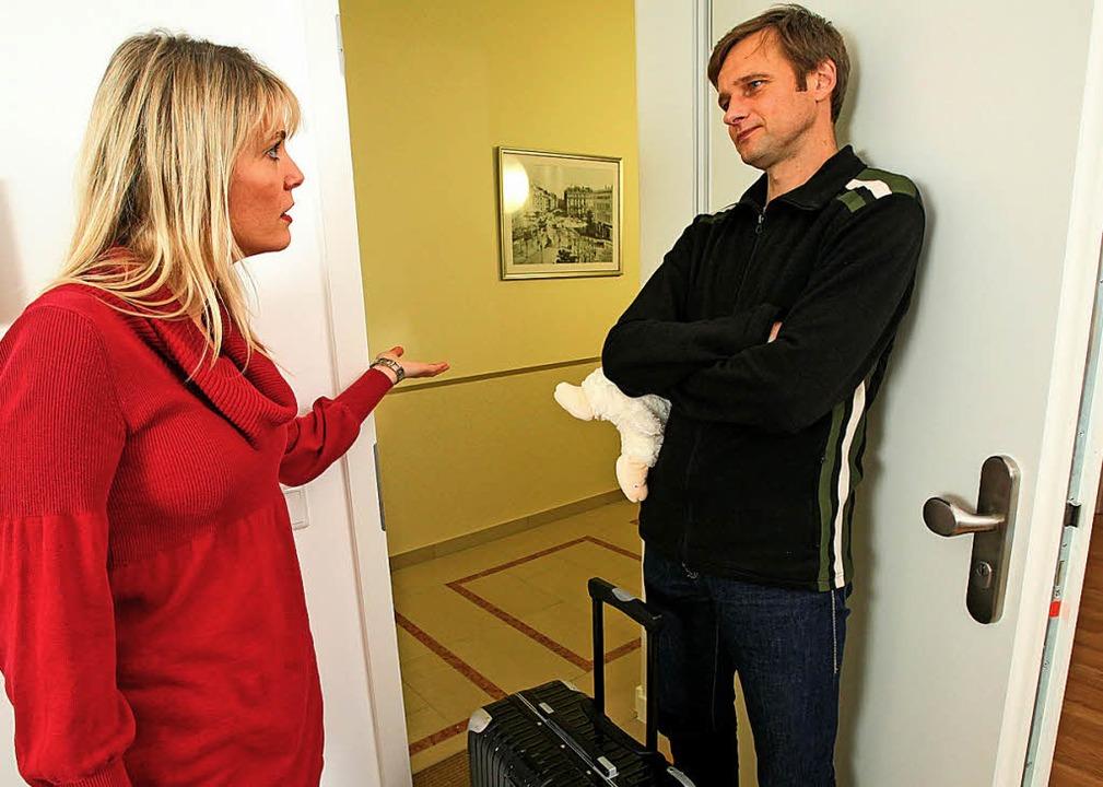 Wer nach einer Trennung in der Wohnung...arf, ist nicht nur Verhandlungssache.   | Foto: Bodo Marks (dpa)