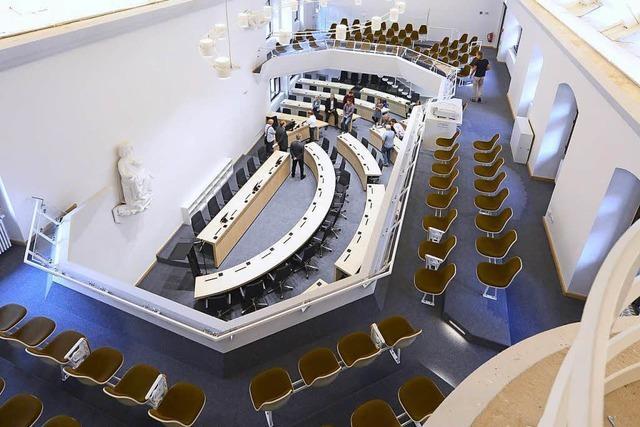 So sieht der neue Ratssaal im Freiburger Innenstadt-Rathaus aus