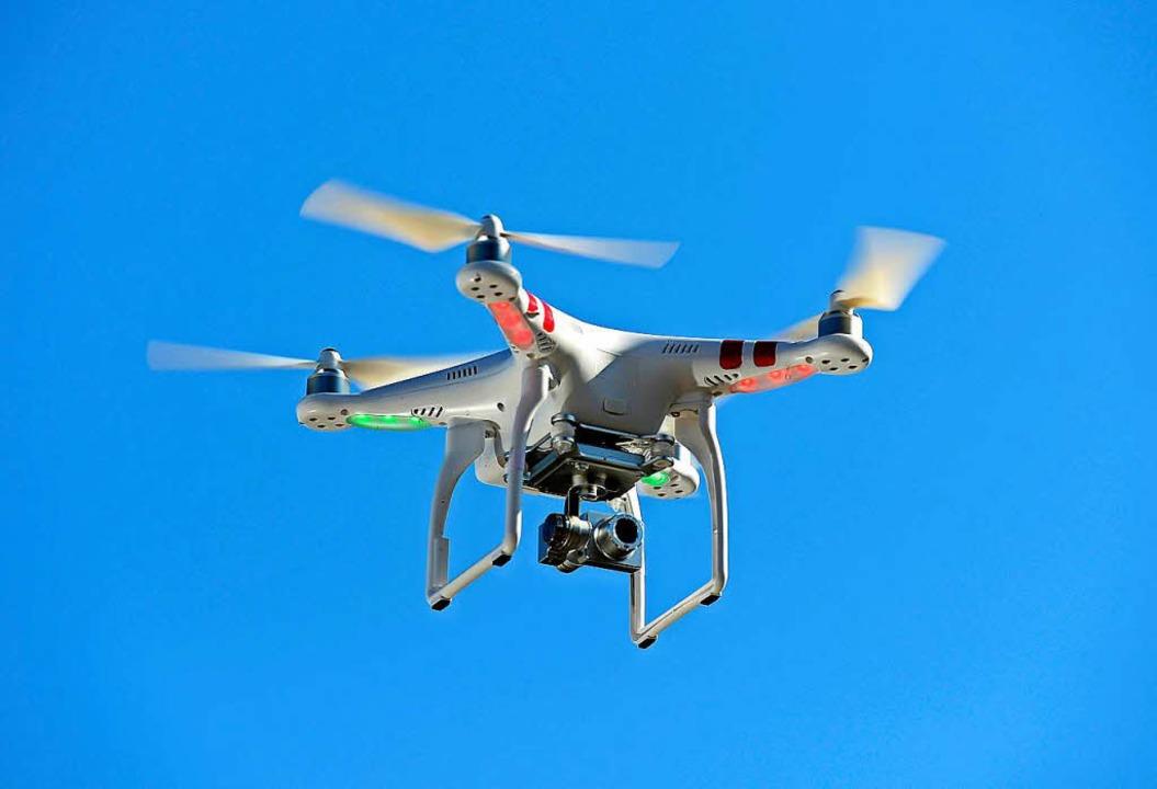 Drohnen liefern eindrucksvolle Luftbil... sie dürfen nicht überall in die Luft.  | Foto: Ingo Schneider