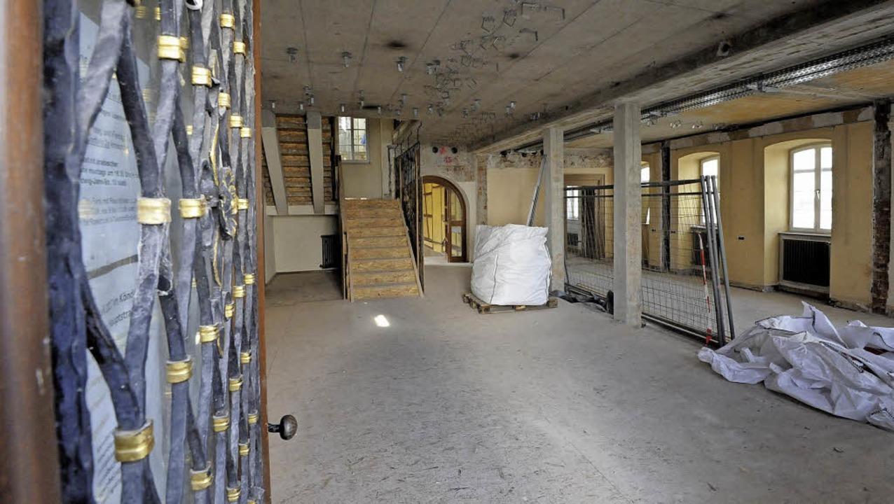 Der Eingangsbereich wird später kaum w...ngen werden für viel mehr Licht sorgen  | Foto: Markus Zimmermann