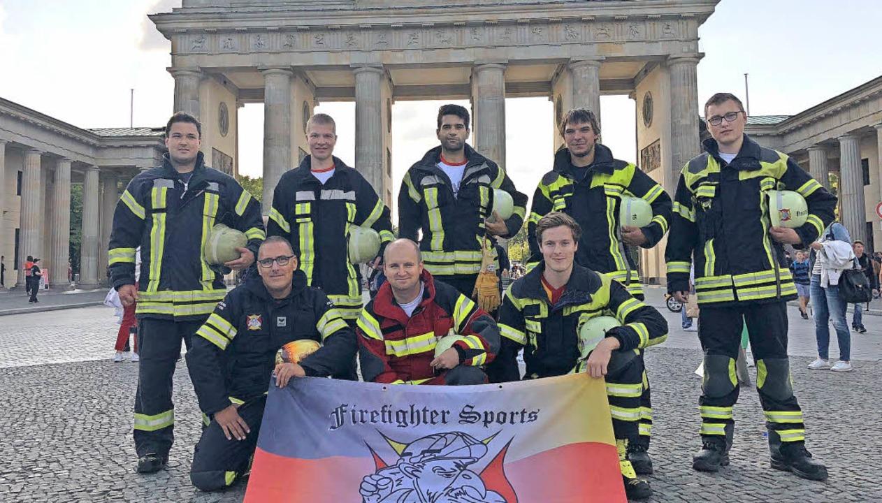 Das Team aus  Südbaden vor dem Branden...eter Joba, Rico Paulusch, Nils Jenne.   | Foto: Feuerwehr Zell