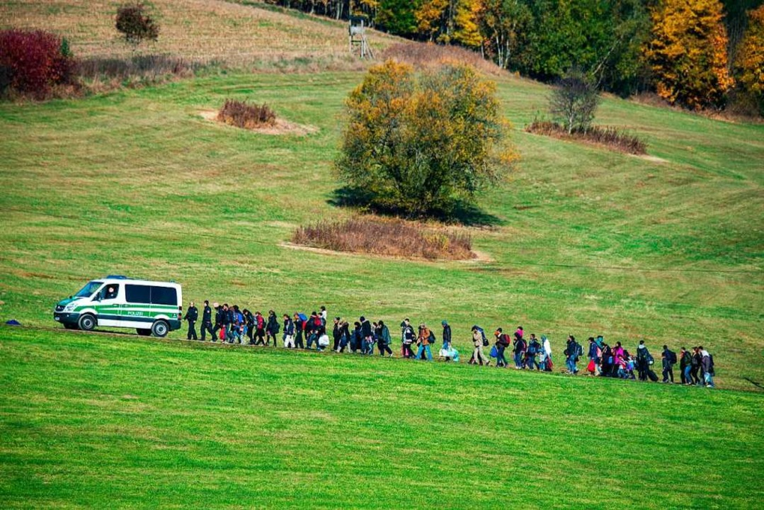 Ankunft von Flüchtlingen im Oktober 2015 in Bayern  | Foto: Armin Weigel