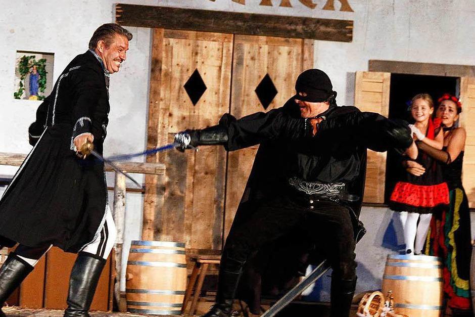 """Ein Fest fürs Auge und beste Unterhaltung bot die Aufführung """"Zorro"""" (Foto: Heidi Fößel)"""