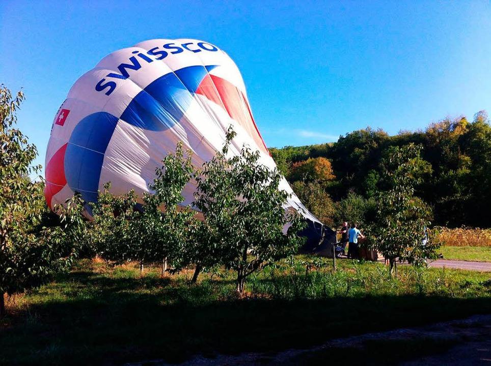 Geglückte Landung  | Foto: Bernhard Basler