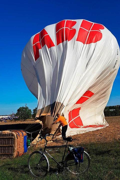 Nach der geglückten Landung  | Foto: Thomas Drews