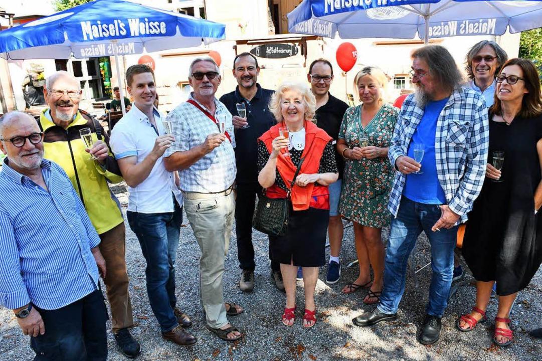 SPD-Mitglieder feierten auf den Gelände das 150-Jahr-Jubiläum.    Foto: Barbara Ruda