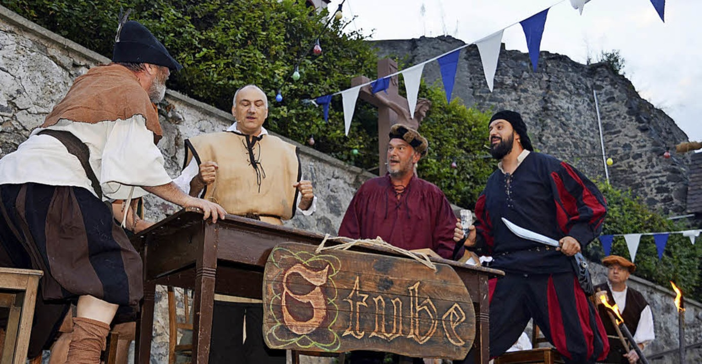 Stets ein Höhepunkt bei den Weintagen:...fführung zum Bauernaufstand von 1525.   | Foto: Roland Vitt