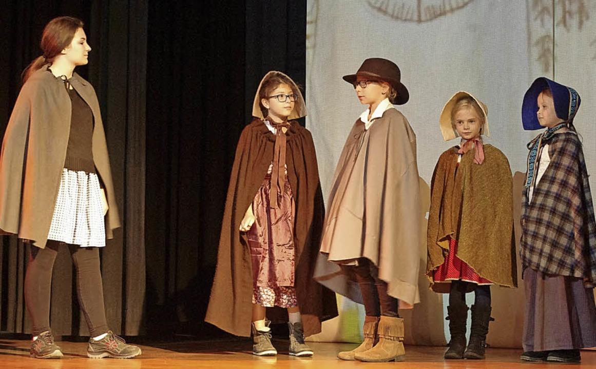 Workshopteilnehmer auf der Bühne     Foto: Annika Sindlinger