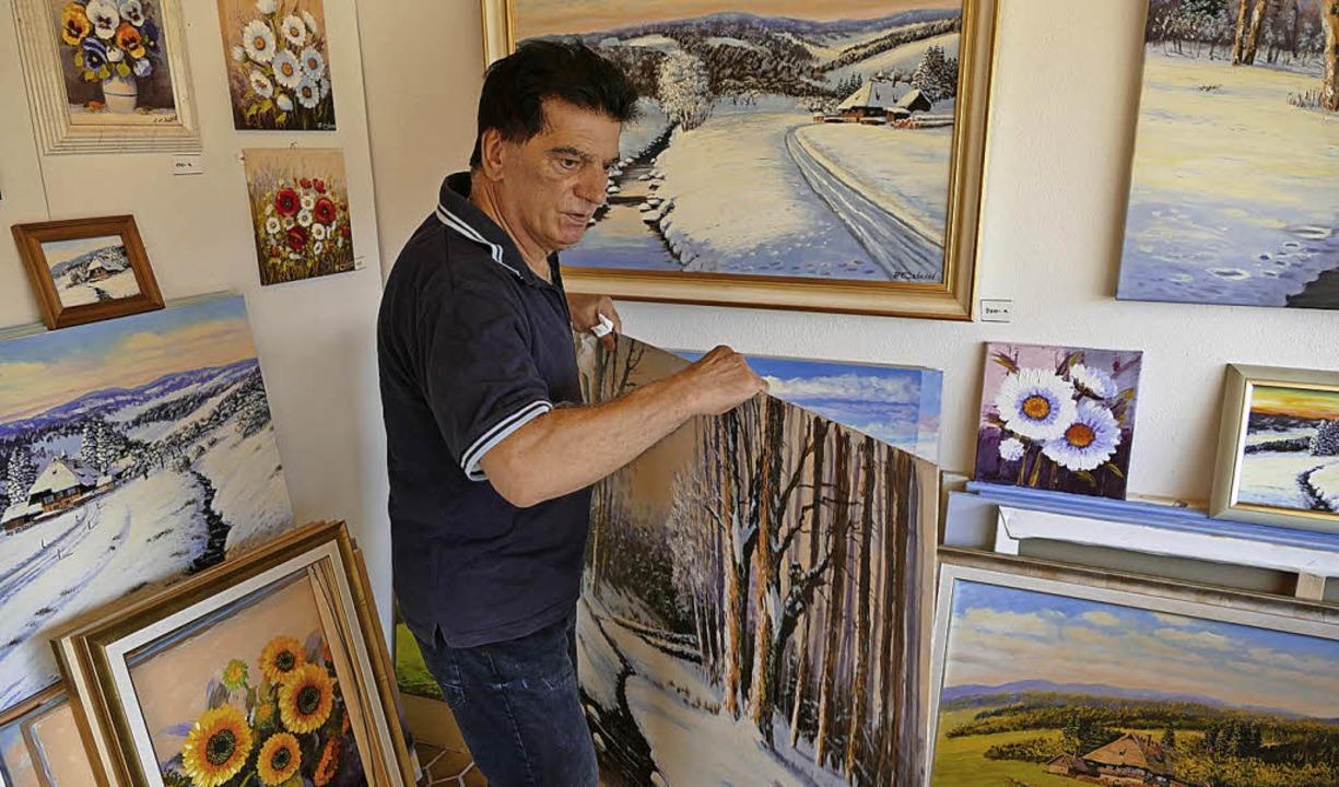 Antonio Colucci in seinem Atelier in TItisee   | Foto: Wendelin Schnitzler