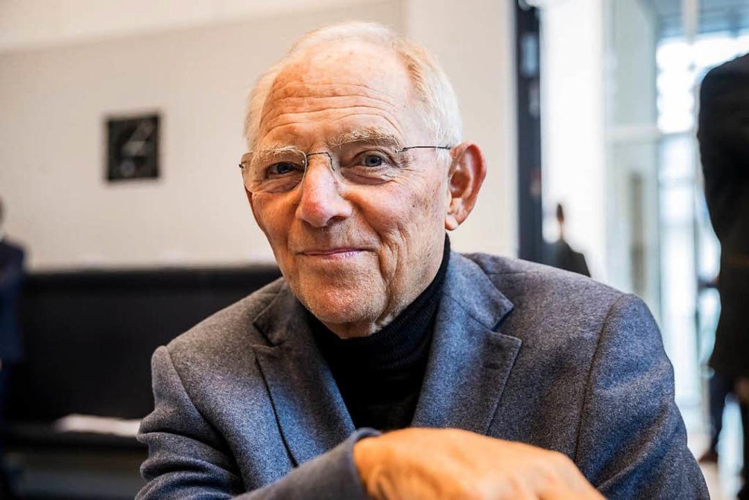 Wirbt dafür, möglichst früh und viel M... Bundestagspräsident Wolfgang Schäuble  | Foto: dpa