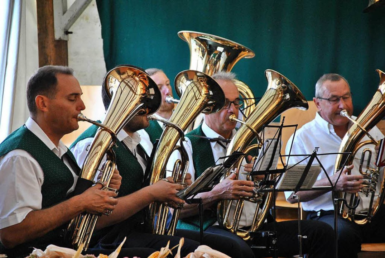 Der Musikverein Feldkirch musiziert beim Offnadinger Dorffest.    Foto: Ralph Fautz