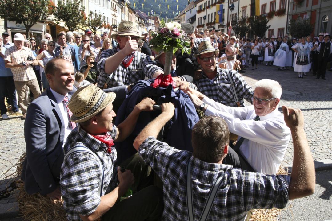 So ging es zum Abschluss der Heimattage in Waldkirch zu.  | Foto: Fleig