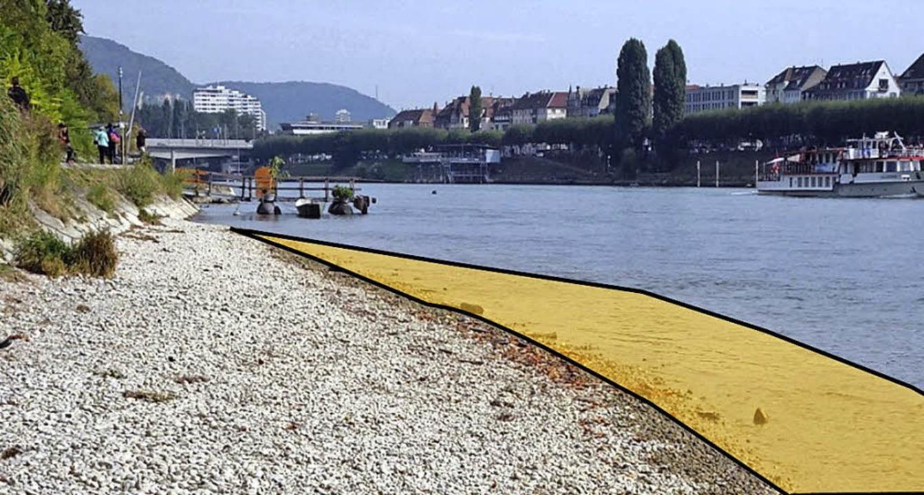 Unter anderem wird der bestehende Stra...r um zwei bis vier Meter verbreitert.   | Foto: Visualisierung: Kanton Basel-Stadt