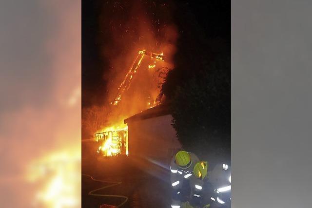 Keine Verletzten bei Hausbrand
