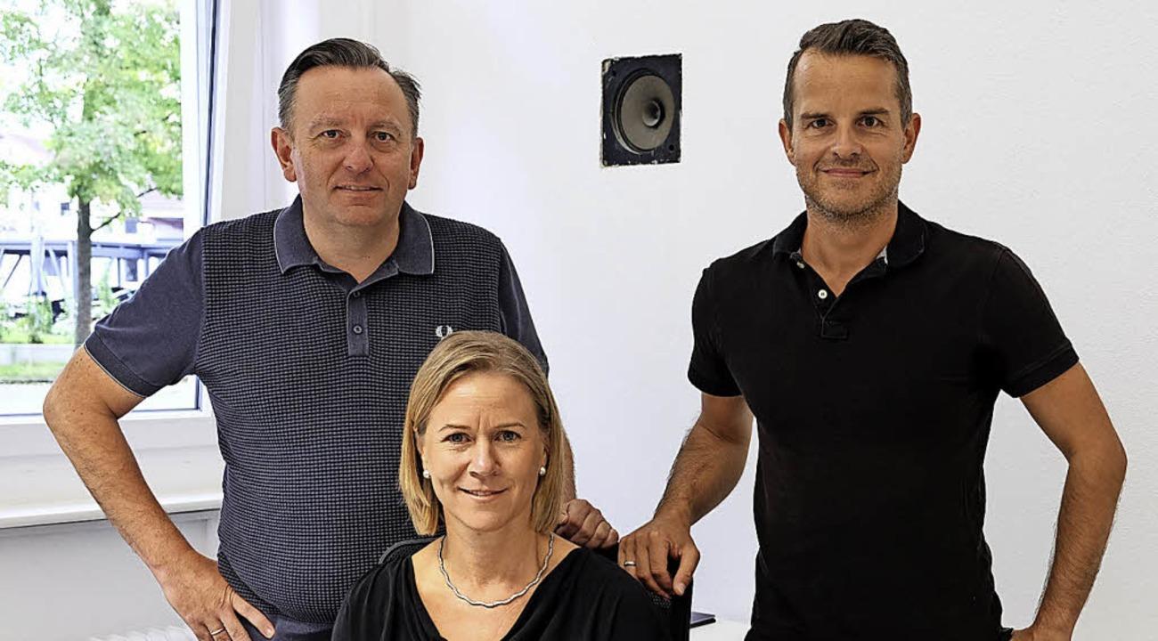 Dreiergespann an der Spitze der Heiter...r und Matthias Goldschmidt (von links)  | Foto: Martin Pfefferle