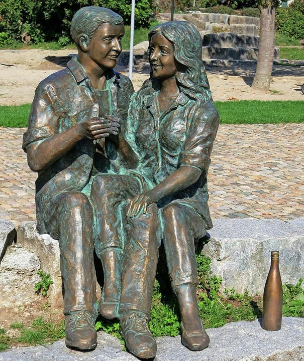 Neue Skulptur im Schlosspark von Schliengen  | Foto: Michael Behrendt