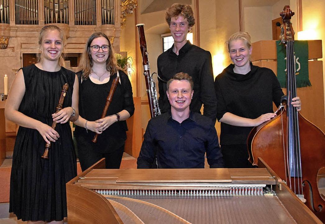 Perfektes Zusammenspiel: das Ensemble Quintessenz in der evangelischen Kirche   | Foto: Andrea Steinhart