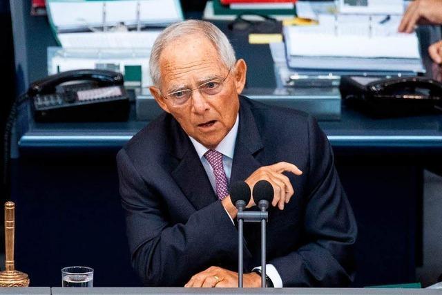 Wolfgang Schäuble warnt vor einer Spaltung der Gesellschaft