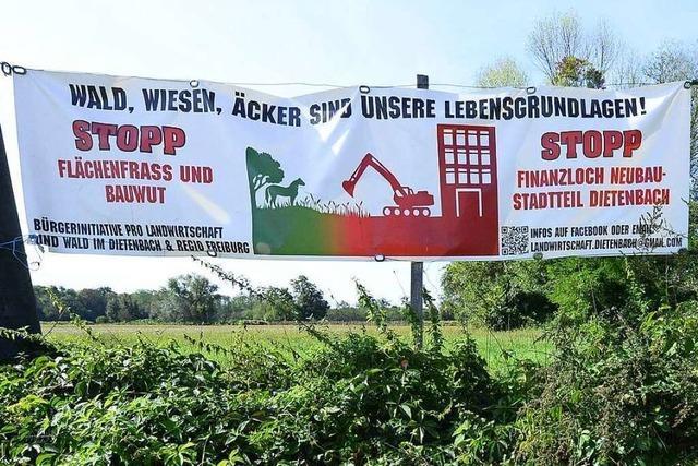 Das Bürgerbegehren gegen Freiburgs neuen Stadtteil Dietenbach ist gestartet
