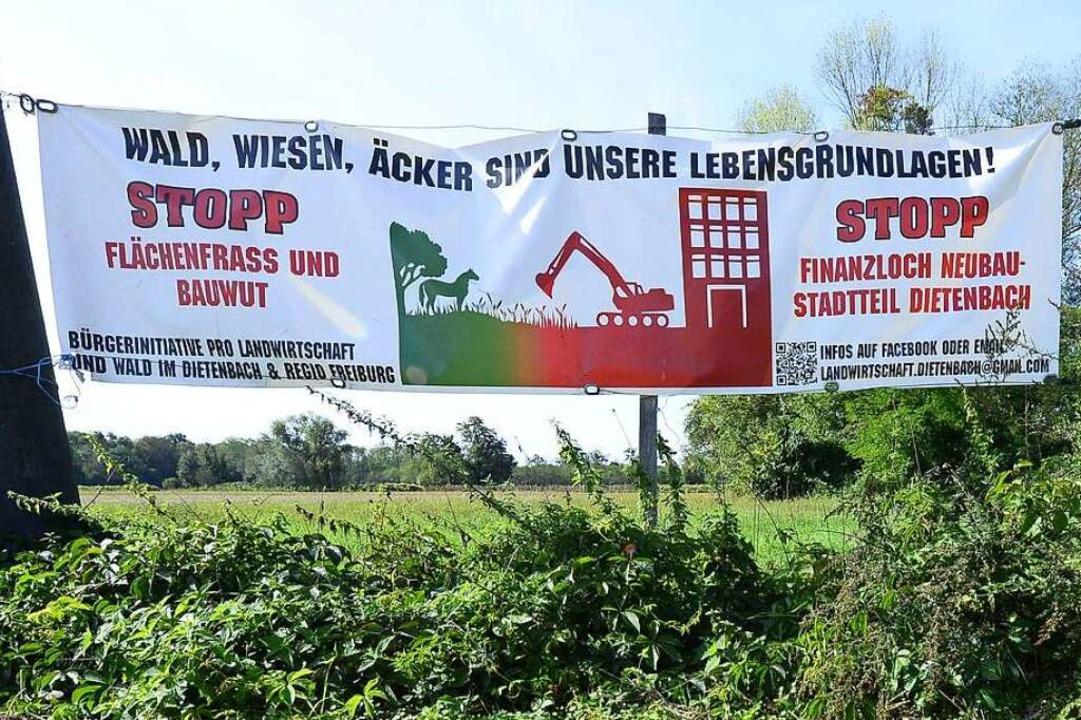 Über den neuen Stadtteil Dietenbach kö...per Bürgerentscheid abgestimmt werden.  | Foto: Ingo Schneider