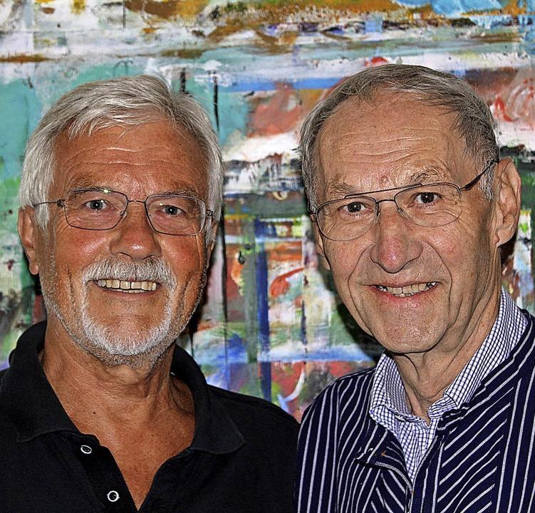 """Peter Seip (links) und Karl Helm stell...olfer"""" von Peter Seip zu sehen.     Foto: Veranstalter"""