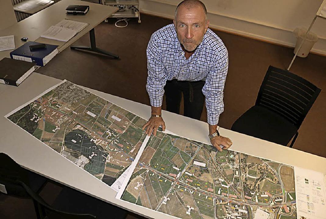 Hartmut Trenz ist der Projektleiter de...imensionen des Großvorhabens deutlich.  | Foto:  Wursthorn, Jens