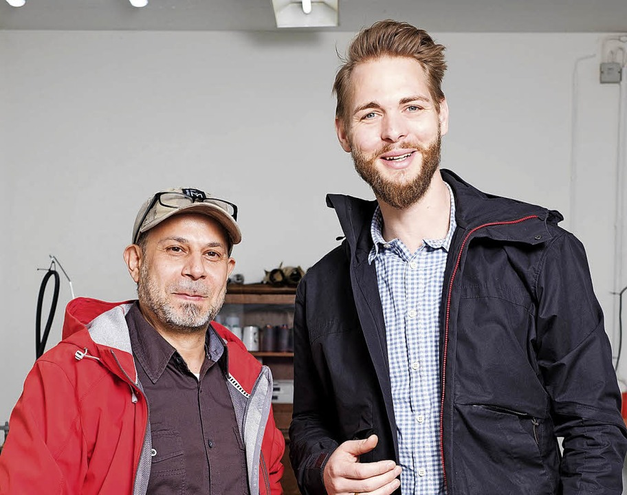 Legen ihr Gemeinschaftsprojekt vorerst...(links) und Unternehmer Simon Dobslaw   | Foto: Duval