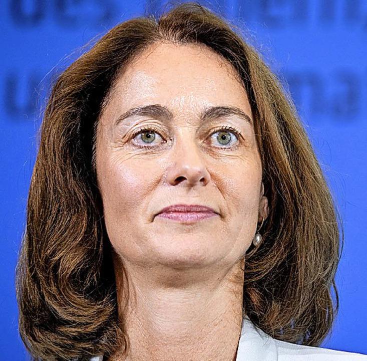 Bundesjustizministerin Katarina Barley sprach in Straßburg.  | Foto: Kay Nietfeld /dpa
