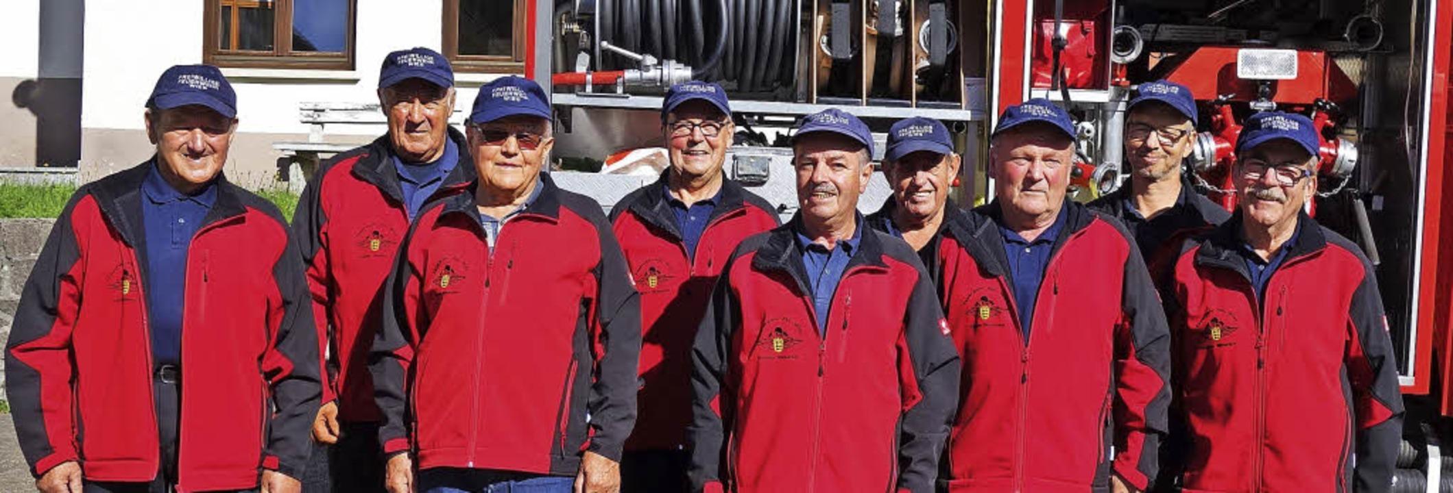 Die Senioren der Wieser Feuerwehr (von...in, Matthias Wolf und Fritz Brendlin.   | Foto: gudrun gehr