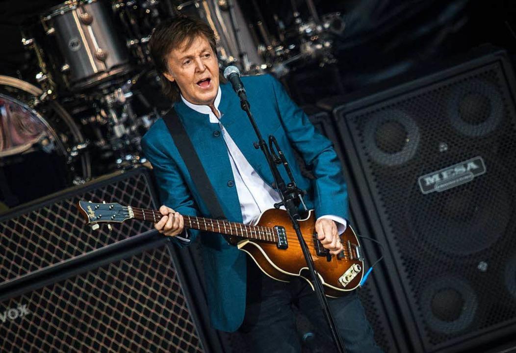Der ewige Beatle: Paul McCartney 2016 auf der Berliner Waldbühne   | Foto: dpa