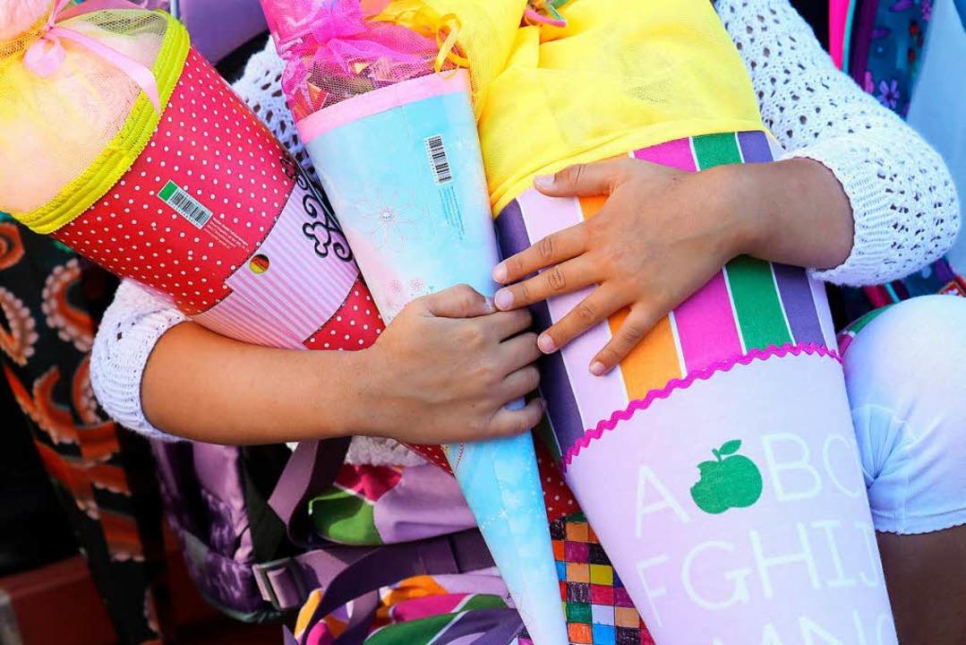 Was sollen Eltern am besten in die Schultüte packen?  | Foto: Symbolfoto: DPA