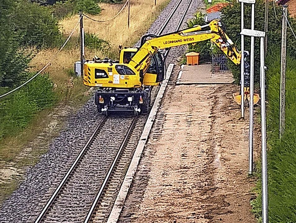 Elektrifizierung der hinteren Höllenta...ebzüge  auf 140 Meter Länge ausgebaut.  | Foto: Christa Maier
