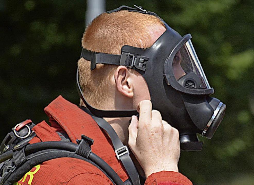 Mit Atemschutz ist die Herausforderung besonders groß.   | Foto: Lauber