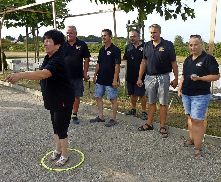 Der Boule-Club beim deutsch-französischen Training  | Foto: Anne Freyer