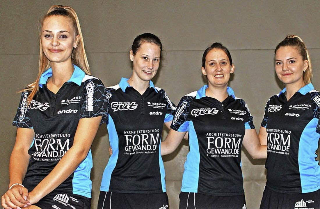 Die neue erste Damenmannschaft der Tis...i, Laura Schärrer und Anna Lasarzick.   | Foto: Matthias Scheibengruber